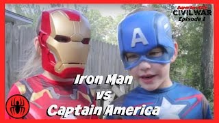 Little Heroes Captain America Vs Iron Man In Real Life | Civil War Episode 1 | Superhero Kids Movie