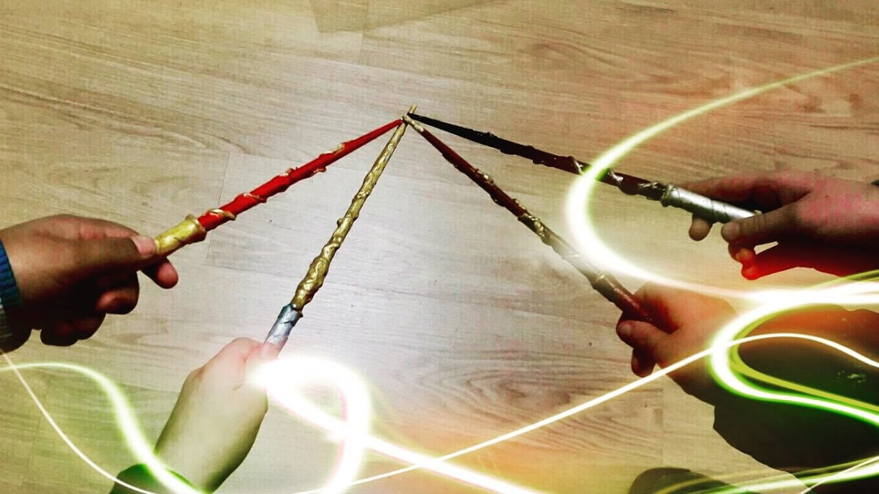 Come Fare La Bacchetta Di Harry Potter How To Make Harry Potter Wand Tutorial