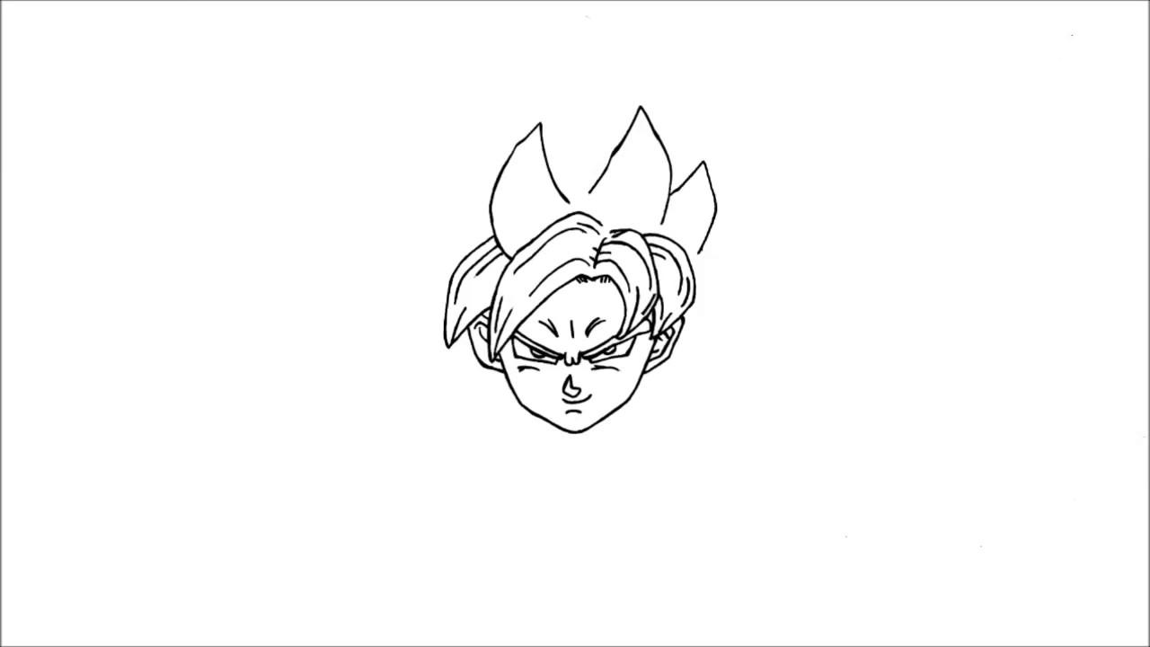 Comment dessiner goku super saiyan dieu bleu pas pas ssj dragon ball z la r surrection de f - Comment dessiner goku ...