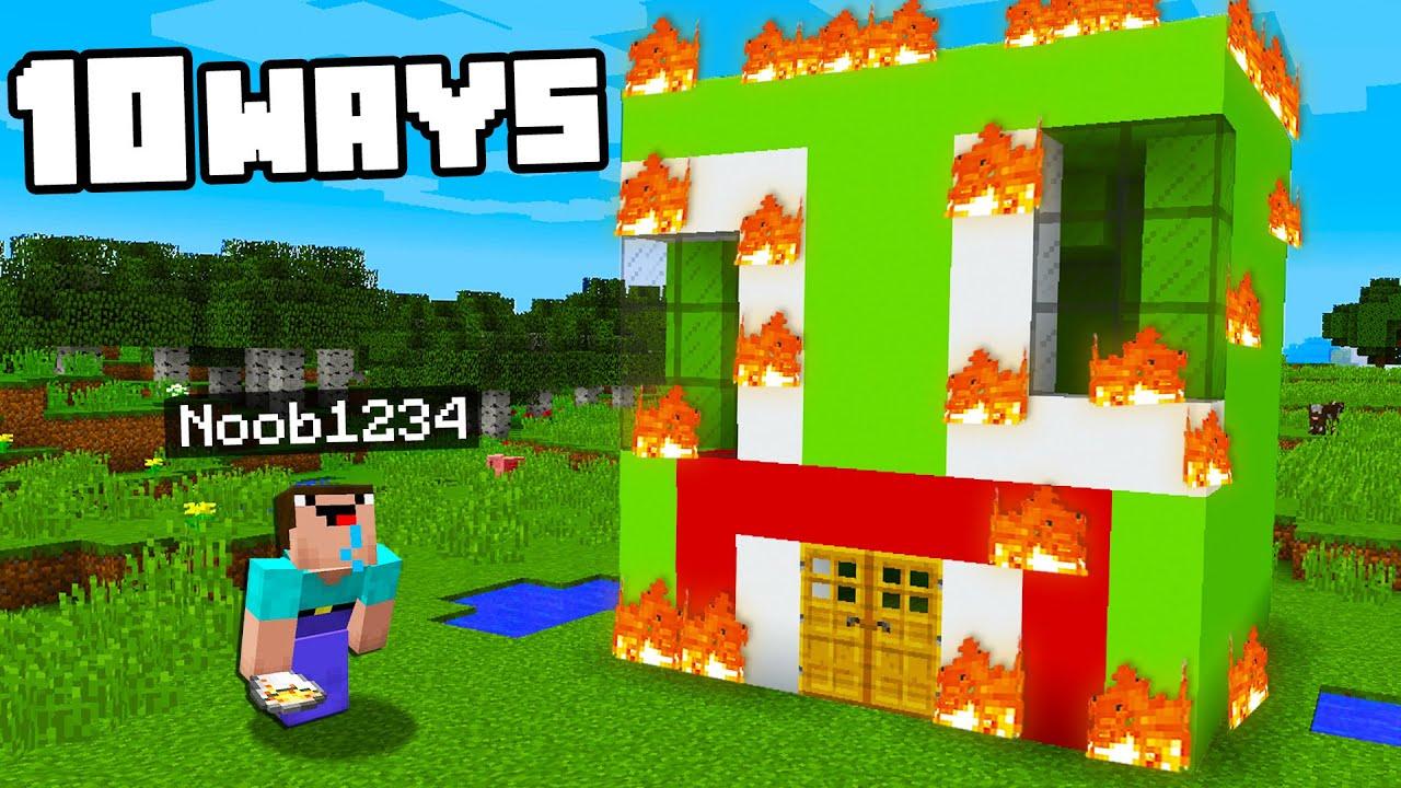 Top 10 Ways To Prank Unspeakable U0026 39 S House   Preston Minecraft