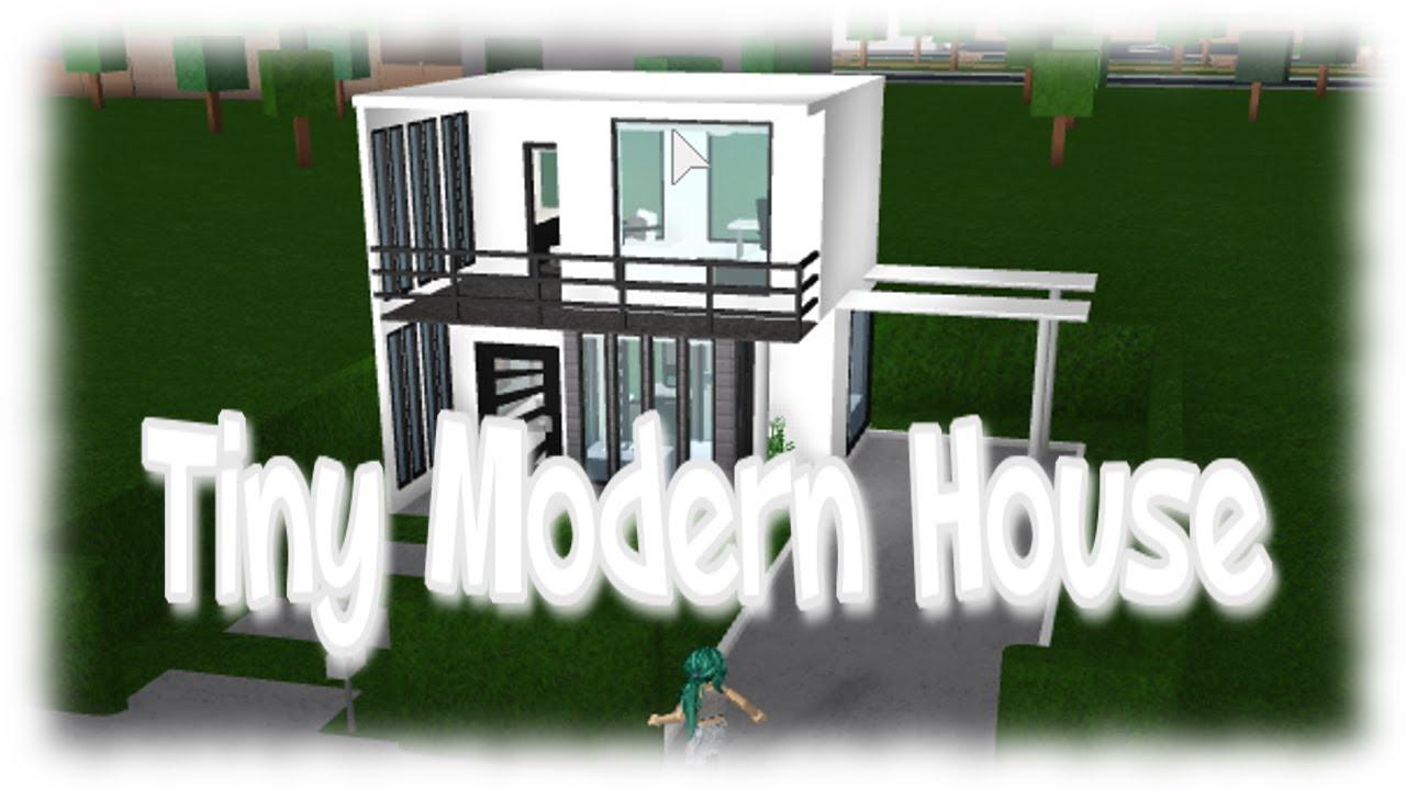 Roblox Tiny Modern House Bloxburg Youtube