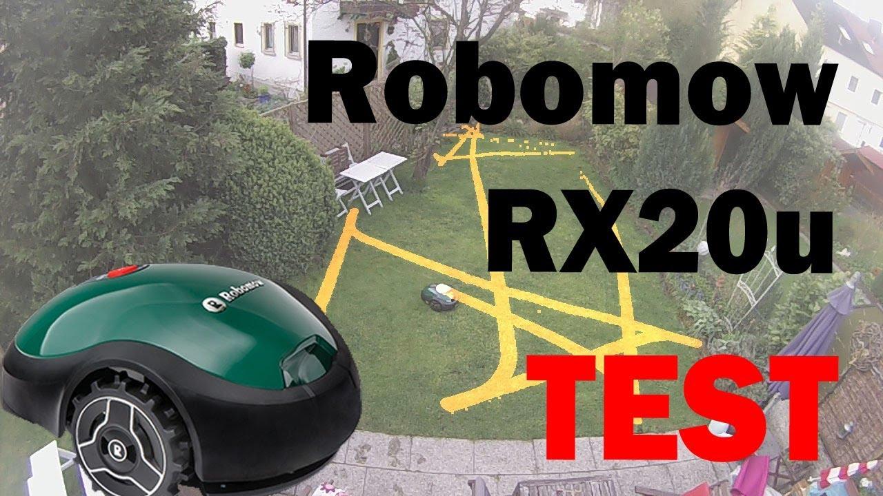 robomow rx12 rx20 test: 40 m² rasenfläche in 90 minuten