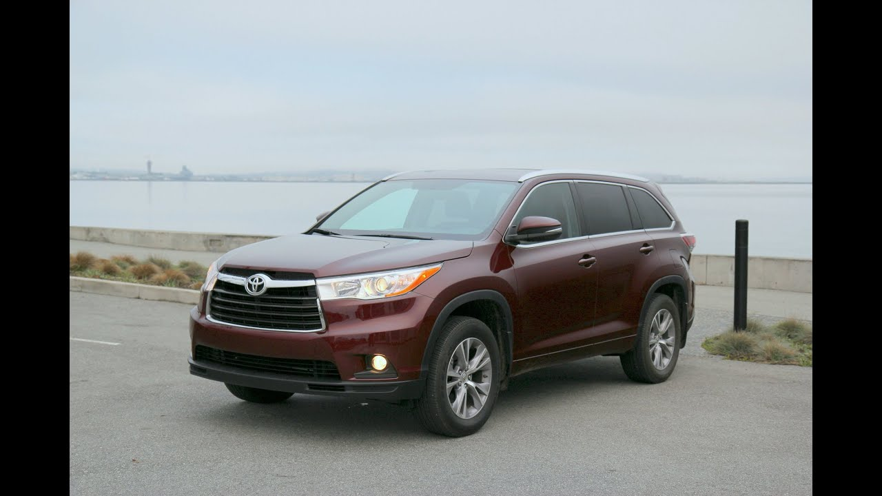 2014 2015 Toyota Highlander Xle 7 Seat Crossover Review And Road