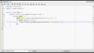 VideoTutorial JAVA #3 (Validar un password)