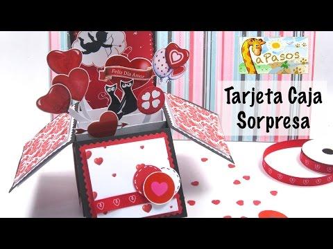 Tarjeta Caja Sorpresa - Manualidades Paso...