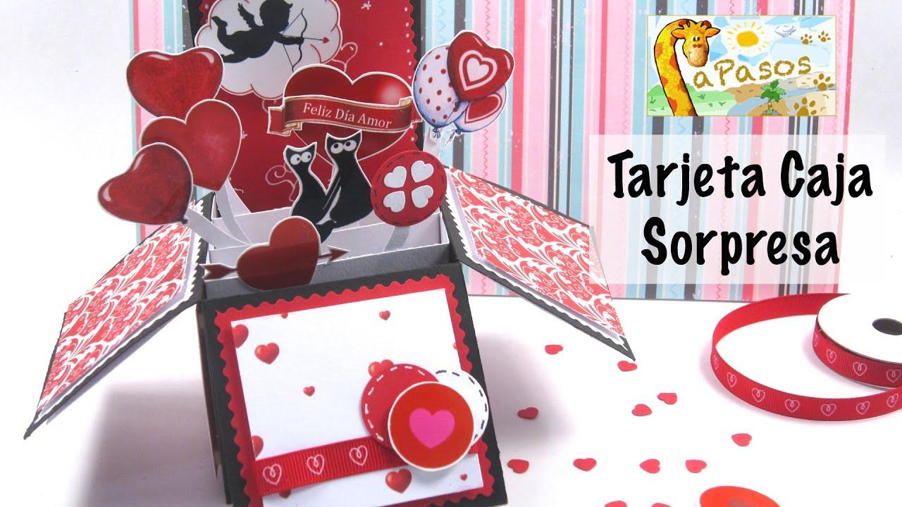 Tarjeta caja sorpresa manualidades paso a paso san - Cajas decoradas para bebes ...