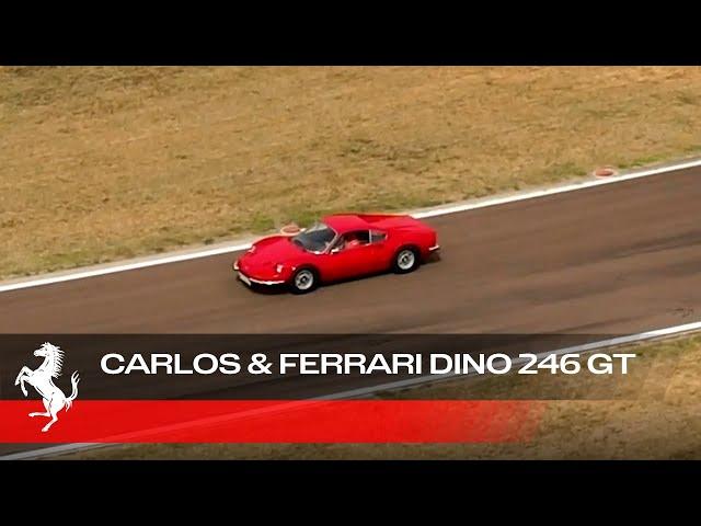 Carlos Sainz Driving a Ferrari Dino 246 GT