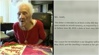 One Hundred Two-Year-Old Widow Handed Eviction Notice on Her Birthday and the Internet Is Not Happy