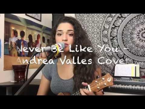 Never Be Like You - Andrea Valles (Flume Cover) | Ukulele