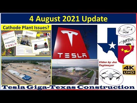 Tesla Gigafactory Texas 4 August 2021 Cyber Truck & Model Y Factory Construction Update (07:30AM)