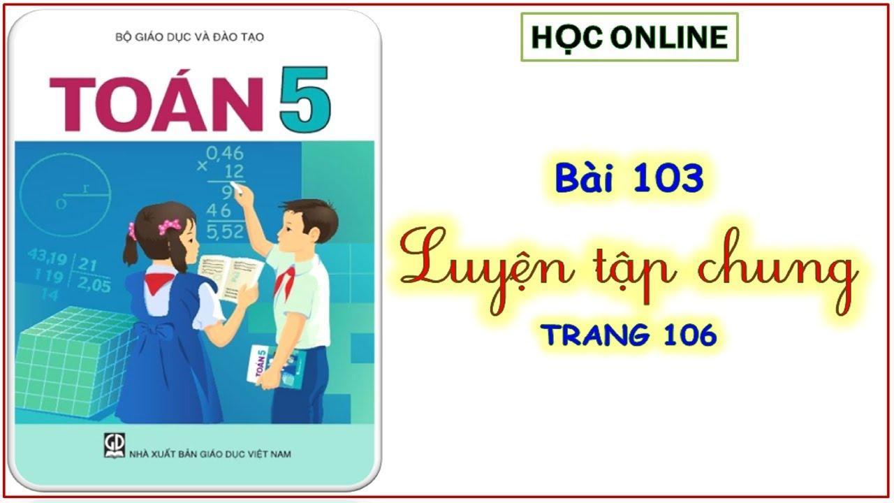 Toán 5: bài 103 luyện tập chung