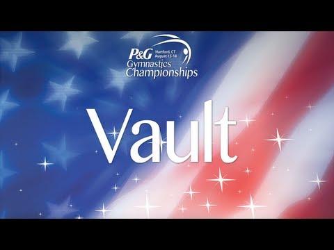 2013 P&G Gymnastics Championships - Sr. Men's Podium Training - Vault