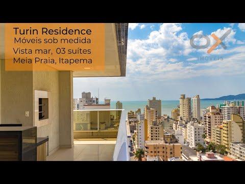 Turin Residence   apartamento mobiliado de 03 suítes, 154 m²   à venda - Meia Praia, Itapema/SC.