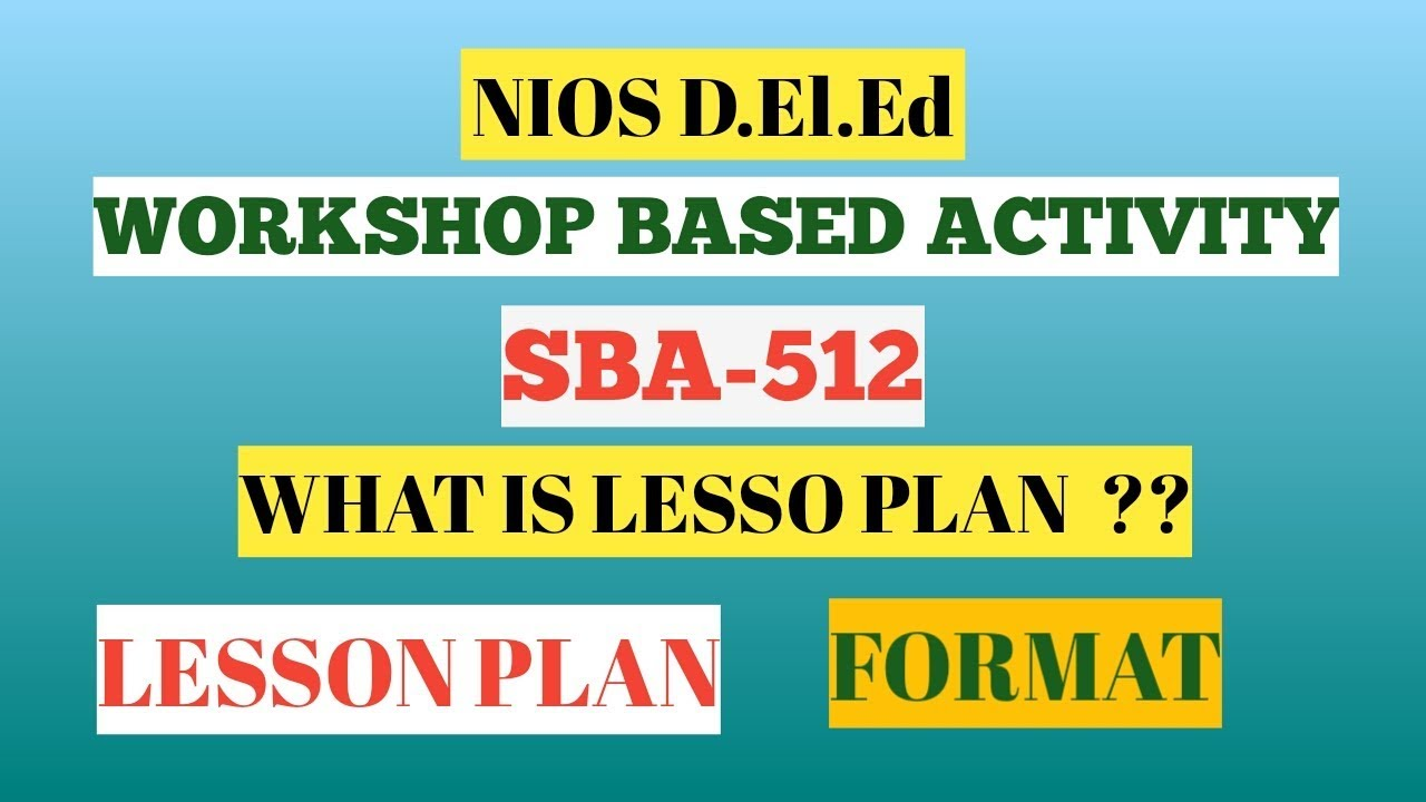 Download nios d el ed workshop based activity wba 512 for 512 plan