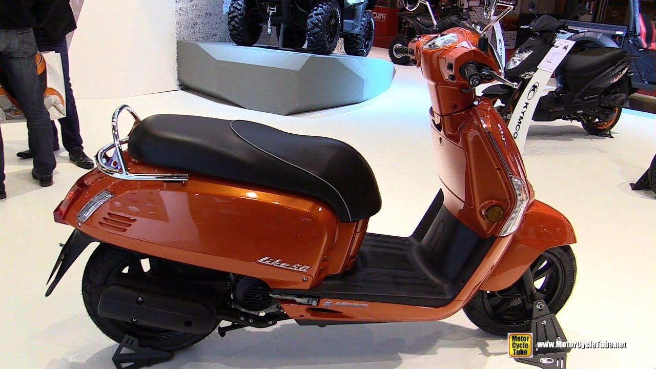 2016 Kymco Like 50 4T Scooter - Walkaround - 2015 Salon de la Moto ...