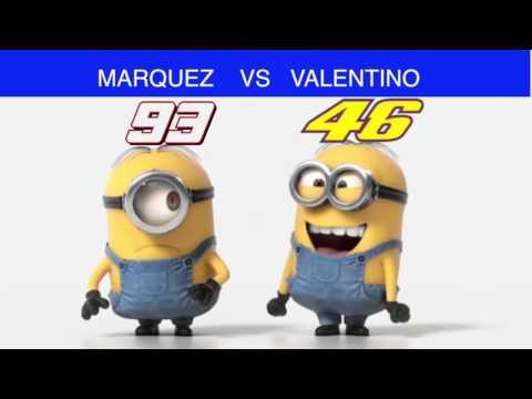 MARQUEZ VS VALENTINO IN VERSIONE MINIONS