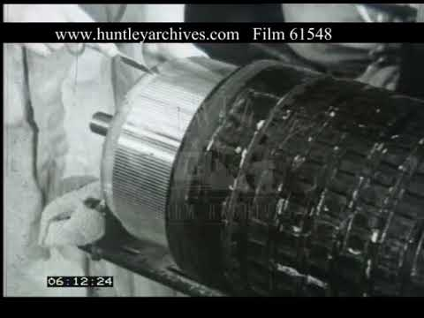 Traction Motor Manufacture Sheffield, 1940s - Film 61548