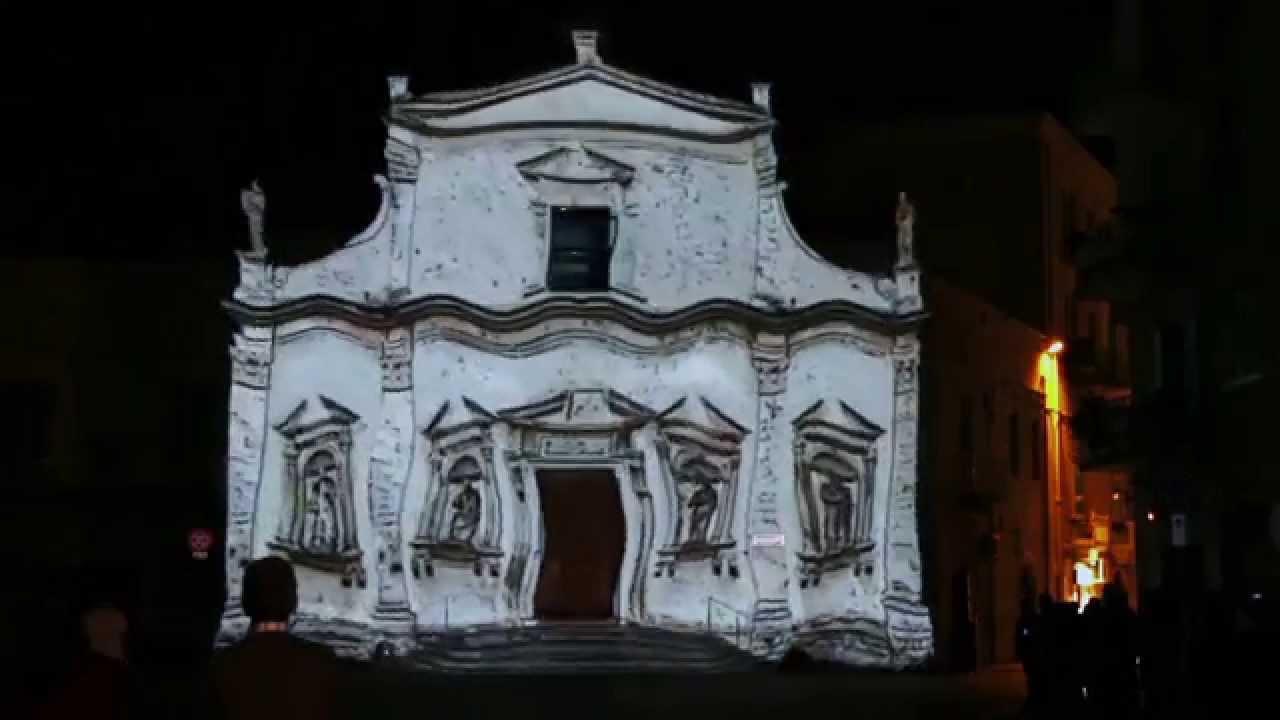 Video Mapping Purgatorio in Luce Molfetta