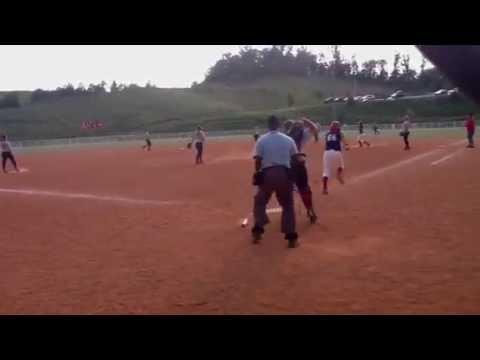 Celie Hudson-2 run homer (Scenic City 16s)