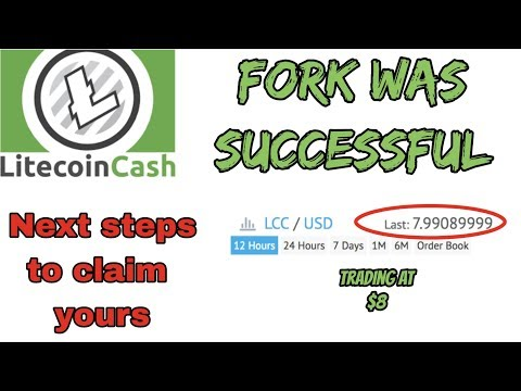 LitecoinCash fork was successful   Next steps to claim