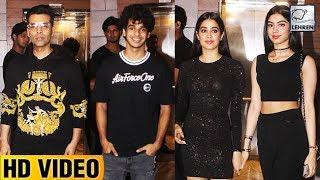 Dhadak Success Party FULL VIDEO   Janhvi Kapoor, Ishaan Khatter, Karan Johar   LehrenTV