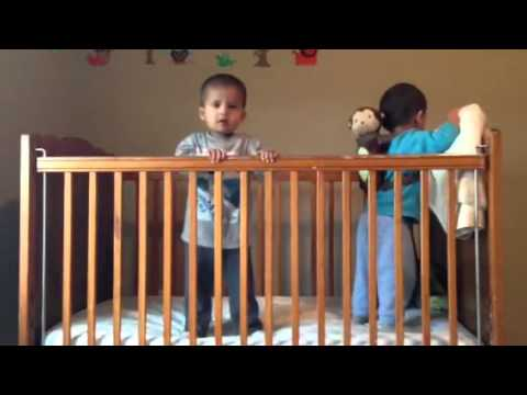 2 Babies in a Crib