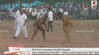R.S.Pura (Jammu) Kushti Dangal 18 Oct 2018
