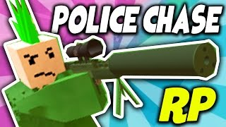 Unturned Roleplay - POLICE CHASE A SNIPER!! RP (Funny Moments)