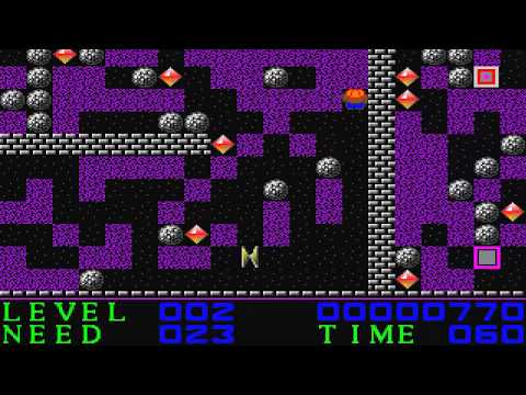AMIGA BOULDERDASH 1992 V0 9 FROM C64 BOULDER DASH ELEMENTS AS SAID ON INSTRUCTIONS By Jeff Bevis