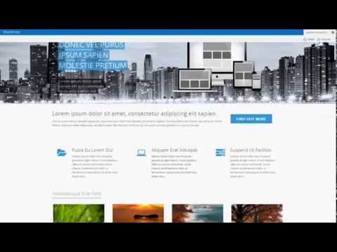 somnio premium sharepoint 2013 theme youtube