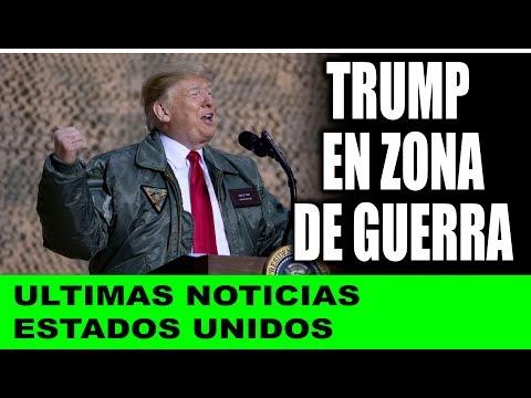 Ultimas noticias de EEUU, TRUMP VISISTA A LAS TROPAS 27/12/2018
