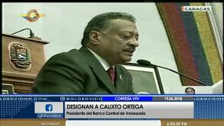 Calixto Ortega es nombrado nuevo presidente del Banco Central de Venezuela