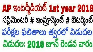 AP Inter 1st year 2018  Supplementary Exams Results details |Telugu| AP Inter 1st year Results 2018