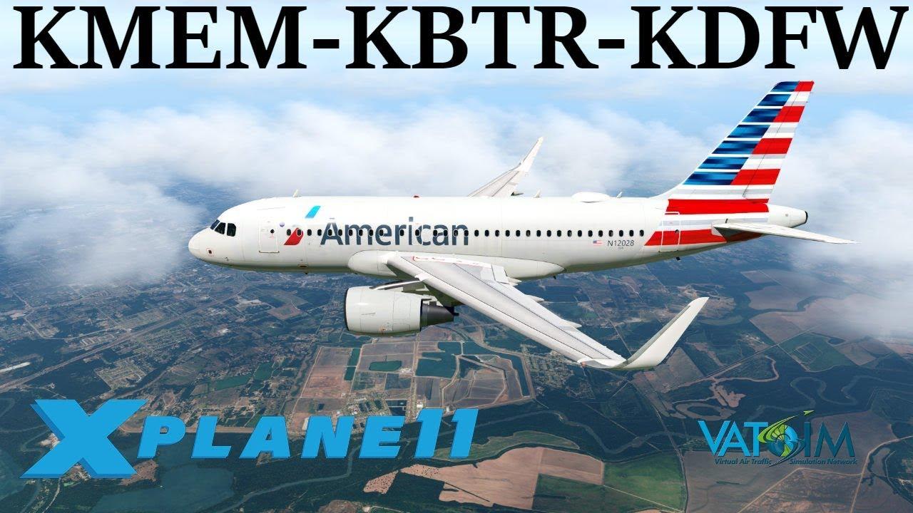 X-Plane 11 | Toliss v1 3 3!! | A319 | VATSIM | Memphis