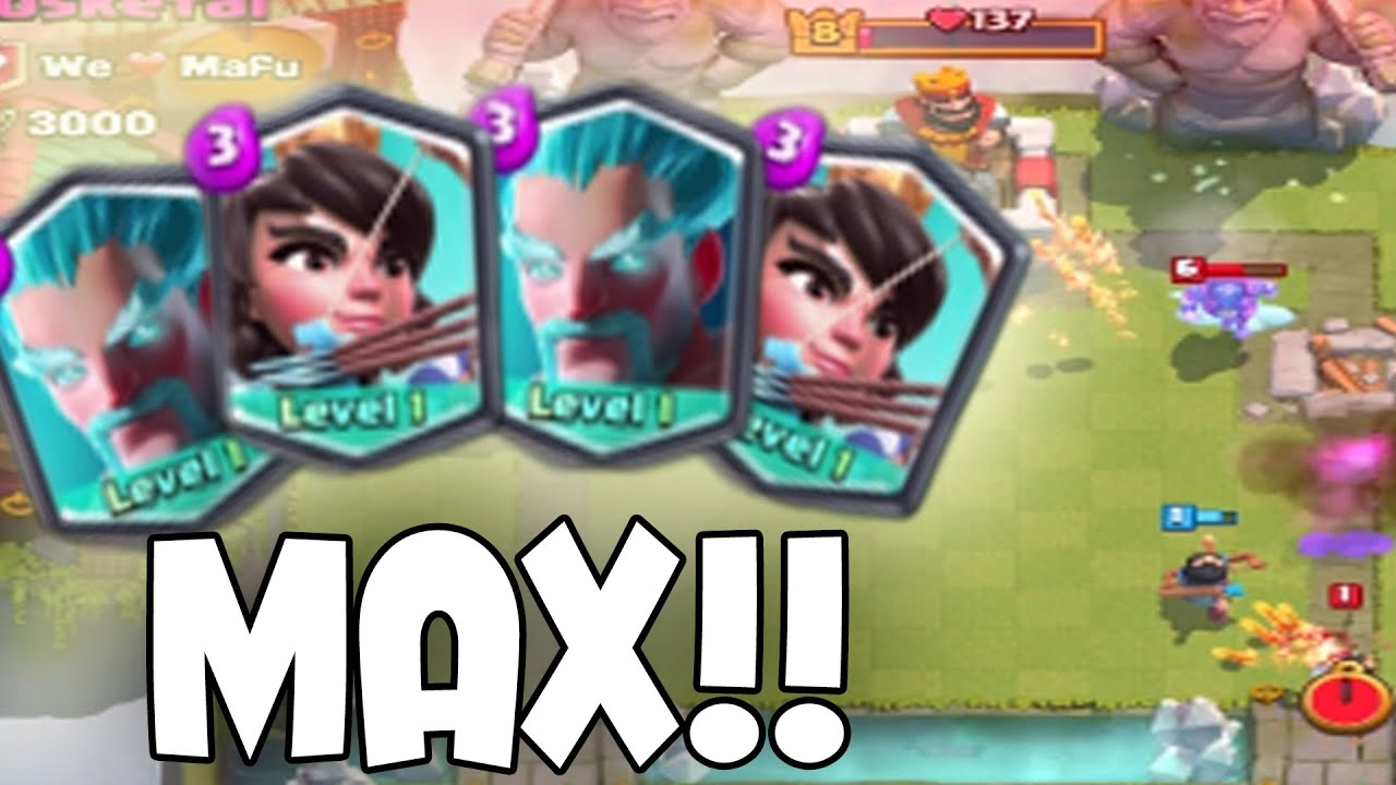 Clash Royale - MAX PRINCESS & ICE WIZARD! Crazy Match | Legendary Card ...