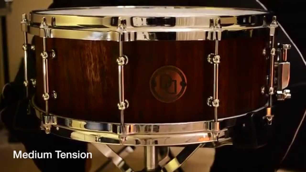 davies drums co 14 x 5 5 walnut stave snare drum sound sample youtube. Black Bedroom Furniture Sets. Home Design Ideas