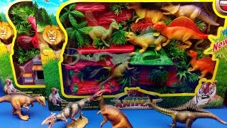 Jurassic DINOSAURS and Domestic Animals Toys For Kids !