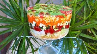 Layered Mexican Salad! (raw Vegan)