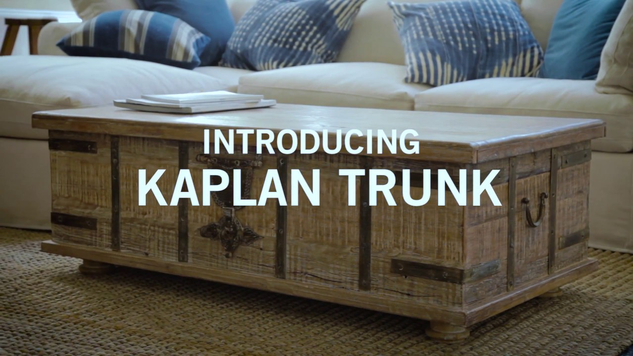 Introducing Kaplan Trunk YouTube - Pottery barn trunk end table
