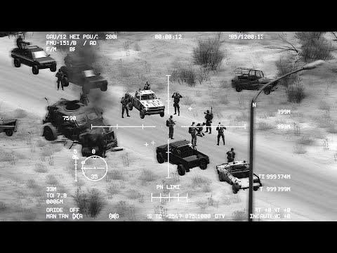 ARMA 3: AC-130 Gunship attack on Insurgents   USAF   Simulator