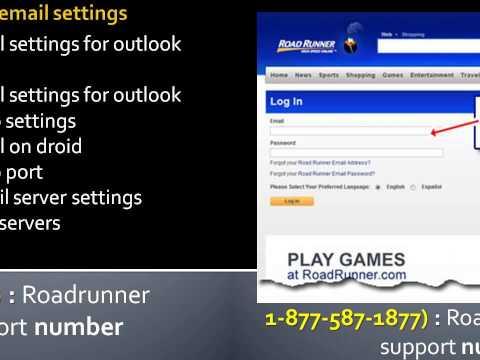Roadrunner technical support phone number: Roadrunner email server settings