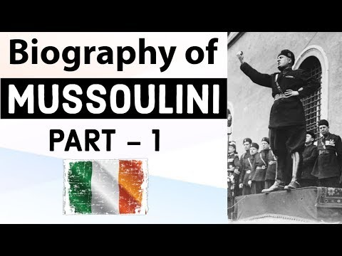 Biography of Benito Mussolini - Founder of Fascism in Europe - Historic Figure of World War II