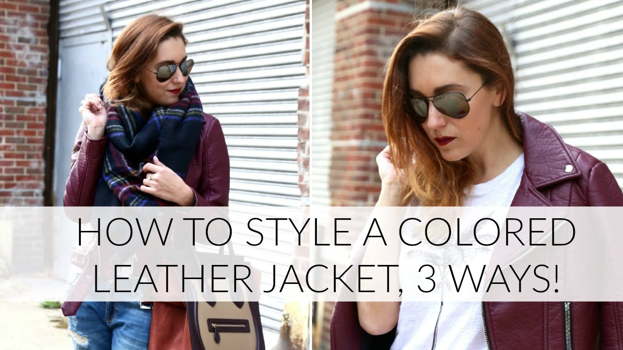 How to colored wear: leather jackets recommend to wear in everyday in 2019