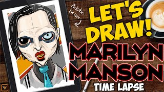 Let's Draw - Marilyn Manson - Adobe Draw Time-Lapse