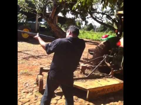 My dad shooting an old Mexican Revolution era rifle