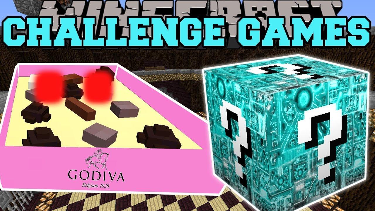 Minecraft: BOX OF CHOCOLATES CHALLENGE GAMES - Lucky Block Mod - Modded Mini-Game