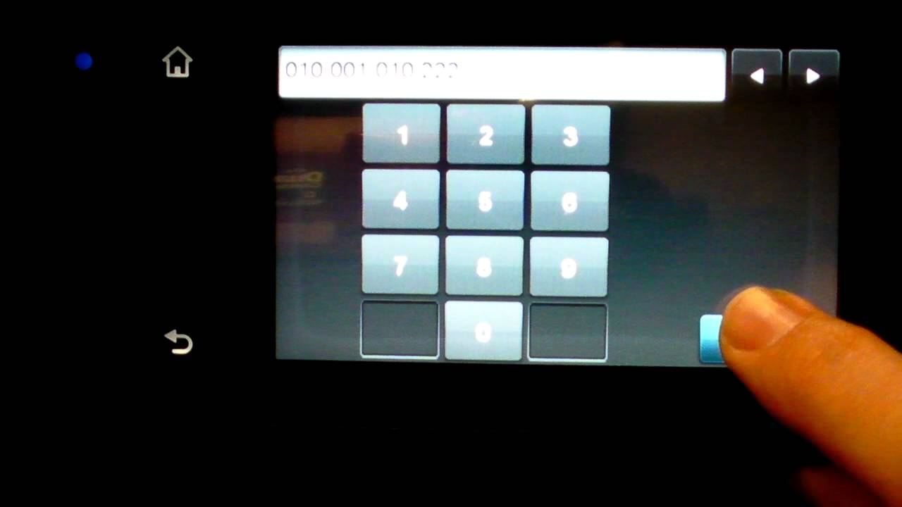 Manual Ip Setup Hp Officejet Pro 8600 Youtube