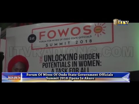 Forum of Wives of Ondo Govt. officials summit 2018 opens in Akure