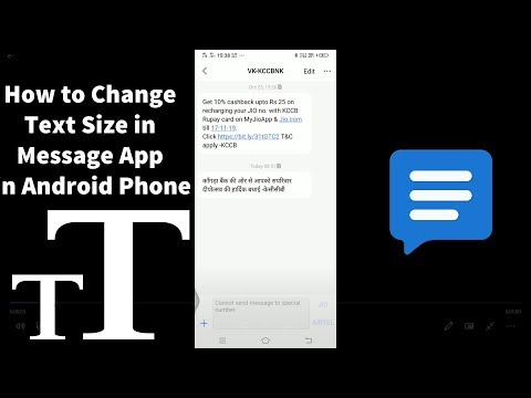 How To Change Text Message Font Size In Android Phone - 2019