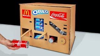 DIY How to Make OREO McDonald's and Coca Cola Vending Machine